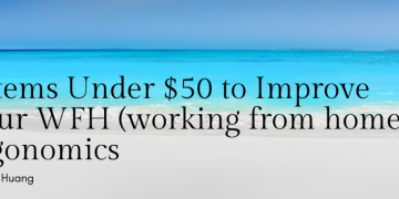 5 Items Under $50 to Improve Your WFH (working from home) Ergonomics