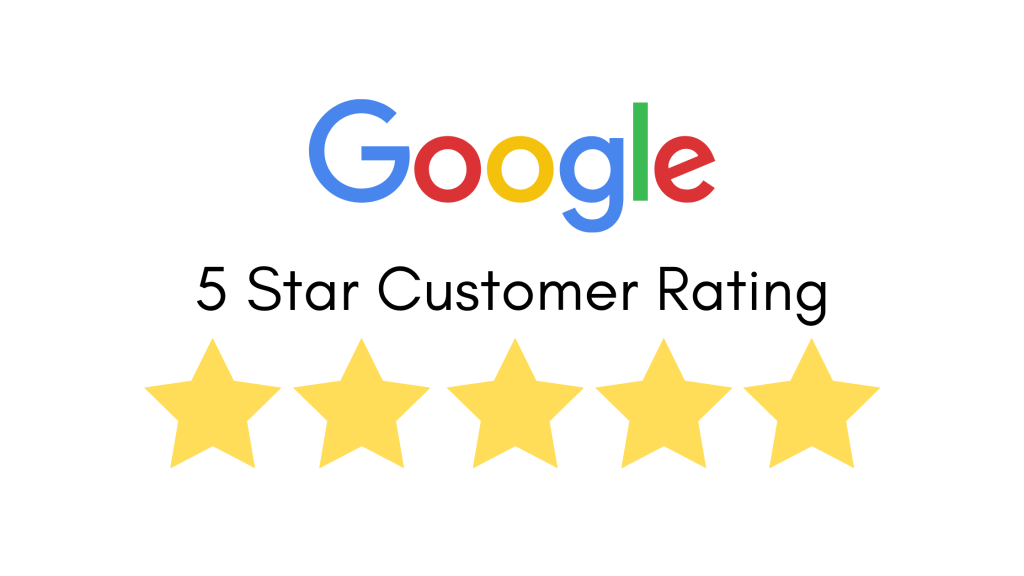 Google 5 Stars Customer Rating